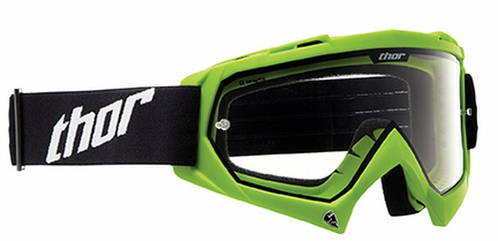 Occhiale Cross Thor Enemy Solid verde