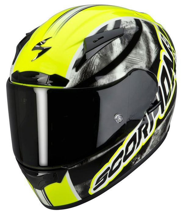 Casco integrale Scorpion EXO 2000 Sidewall Giallo neon