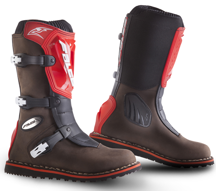 Baby leather boots cross Falco Edge Kid Brown Red