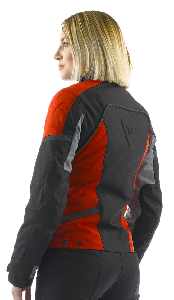 Dainese Xantum D-Dry Lady motorcycle jacket black-grey-red