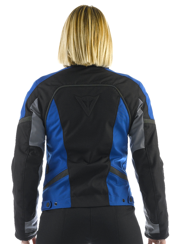 Dainese Xantum D-Dry Lady motorcycle jacket black-grey-blue