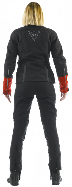 Dainese CLAUDIA D-DRY LADY jacket woman Black-HighRise-Red