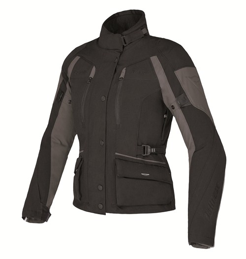 Dainese Temporale Lady D-Dry jacket black-black-dark gull gray
