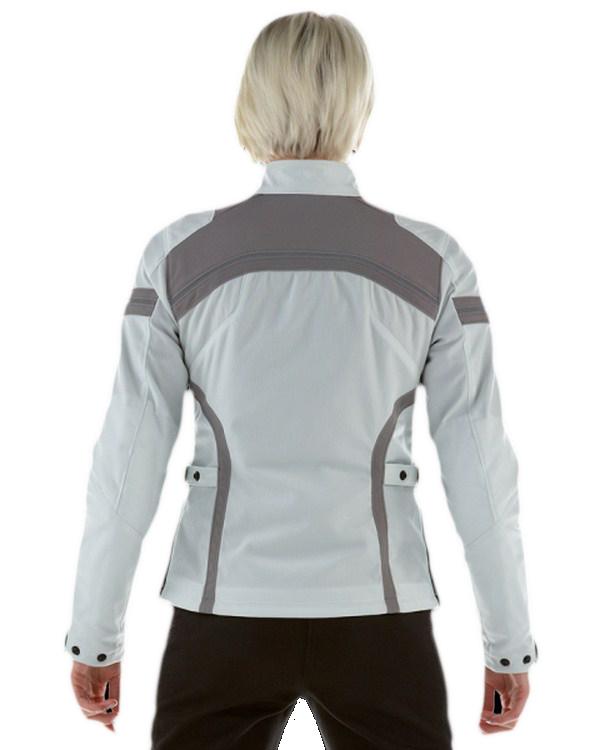 Dainese Gambler Tex Lady jacket light grey-magnesium