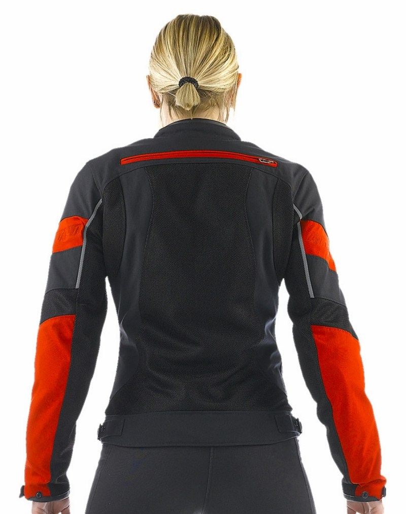 Giacca moto donna Dainese Air Frame Tex Lady Nero Rosso