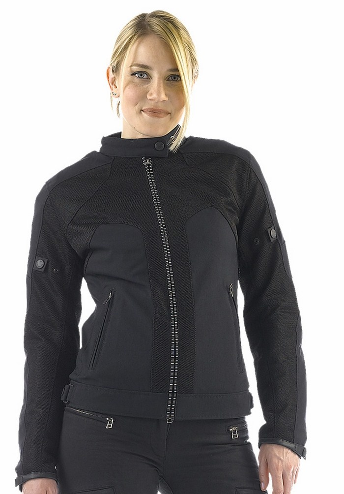 Women motorcycle jacket Dainese Air Tex Lady Black Frame