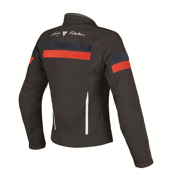 Giacca moto donna Dainese Vintage Tex Lady nero-blu-rosso