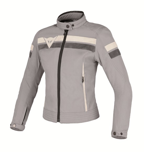 Giacca moto donna Dainese Vintage Tex Lady high-rise-ghiaccio