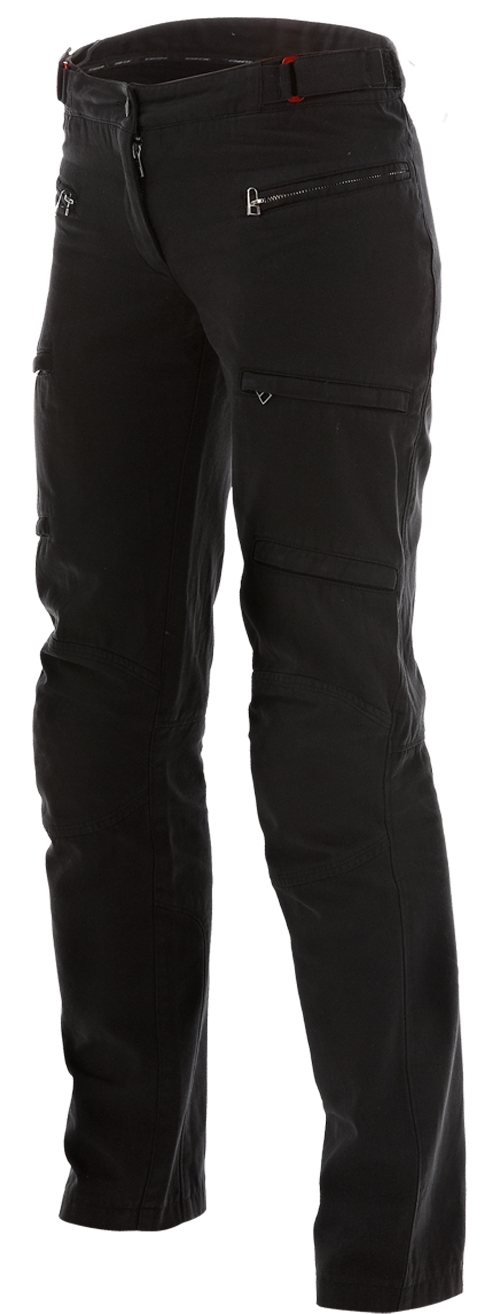 Pantaloni moto donna Dainese New Yamato Cotton Lady neri