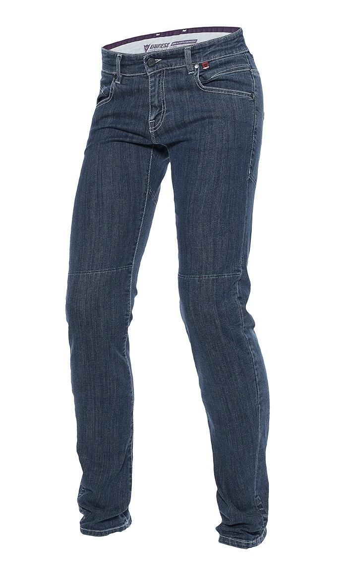 Jeans moto donna Dainese Kateville slim regular Denim medio