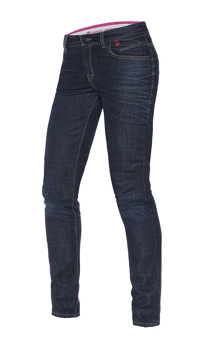 Jeans moto donna Dainese Belleville slim Denim scuro