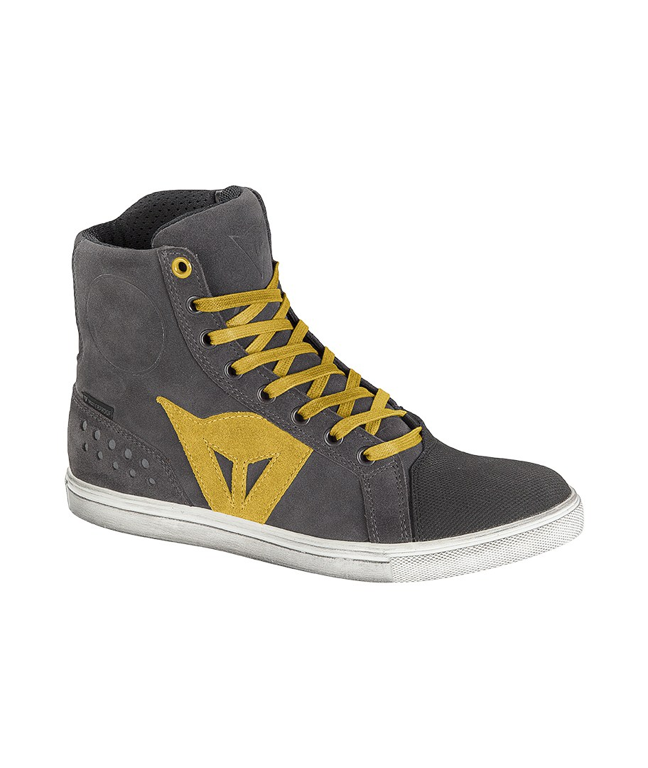 Dainese Street Biker D-WP woman shoes Anthracite Yellow