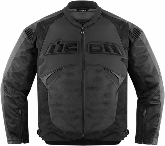 Black leather motorcycle jacket Icon Sanctuary