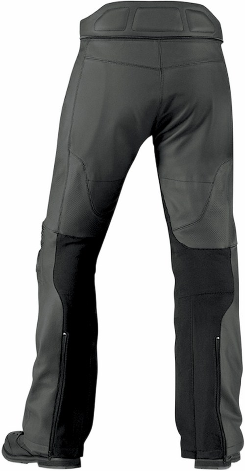 Icon Overlord Prime Leather Motorcycle Pants Black