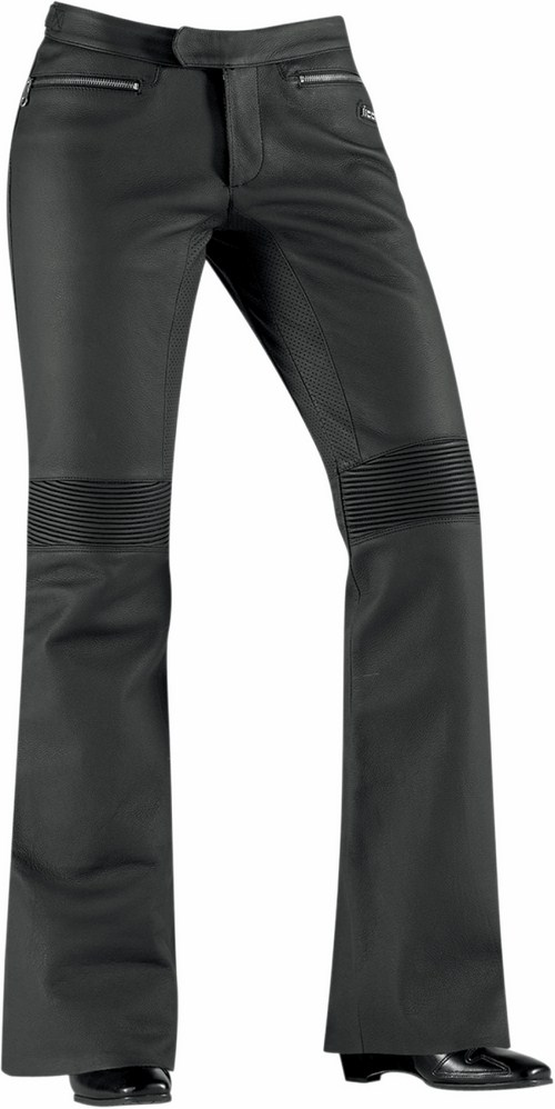 Women motorcycle pants Icon Hella Black