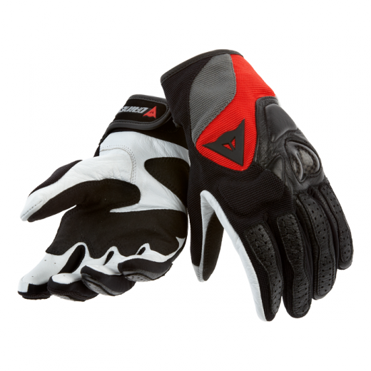 Dainese Motodon Evo Lady motorcycle gloves black-red