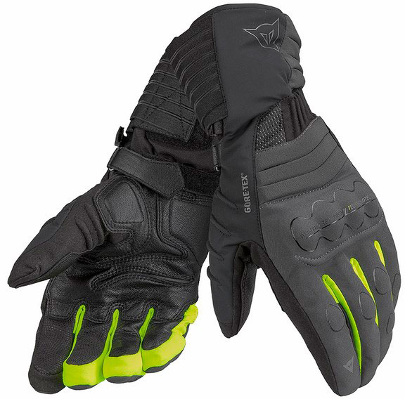 Dainese Scout Evo GTX Lady carbon black yellow gloves