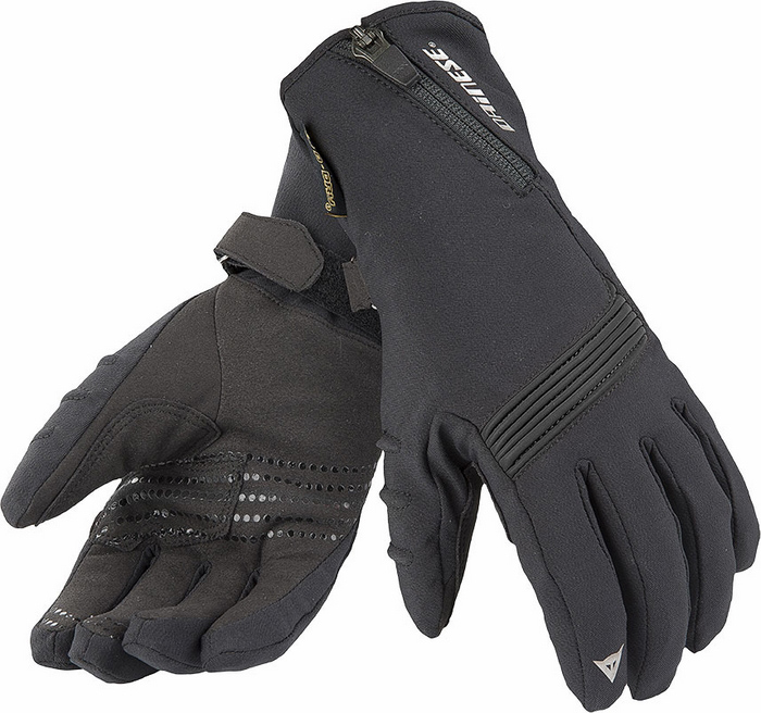 Women Motorcycle Gloves Dainese D-Dry Lady Dawn Black