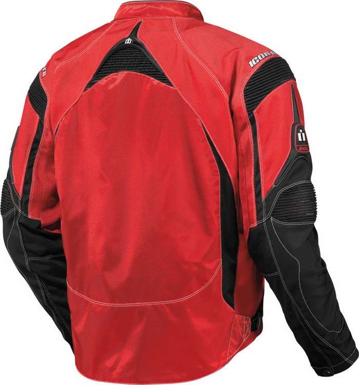 Summer Icon Contra Motorcycle Jacket Red