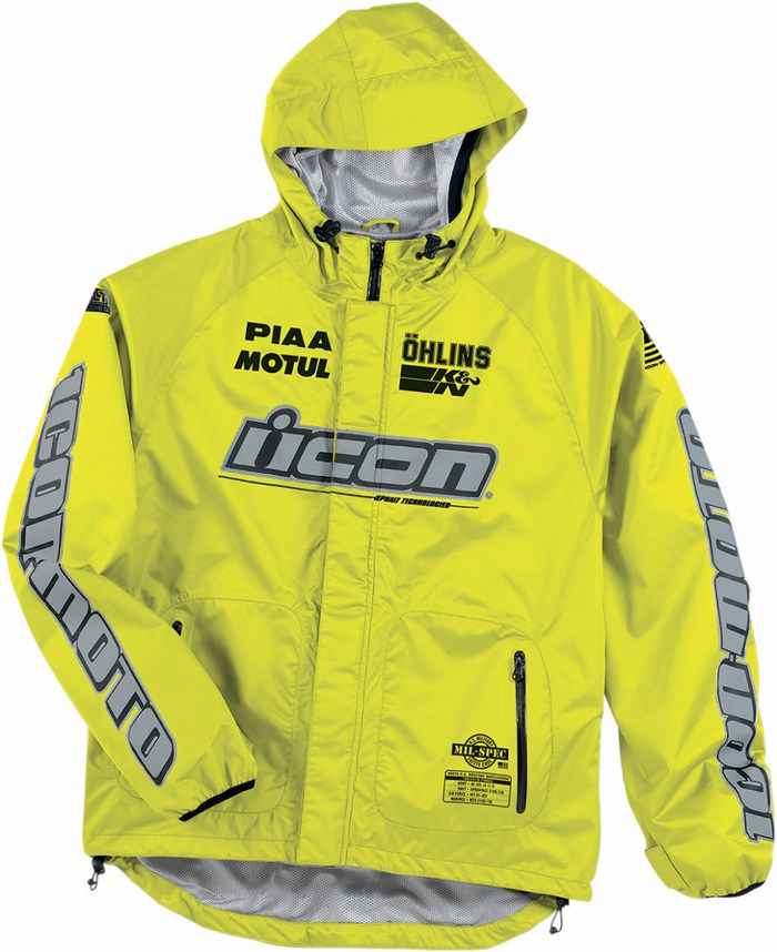Icon PDX Rain Jacket Yellow fluo