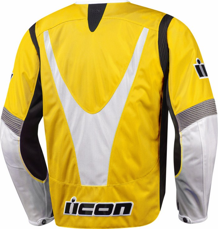 Summer Icon Overlord Textile Motorcycle Jacket Yellow