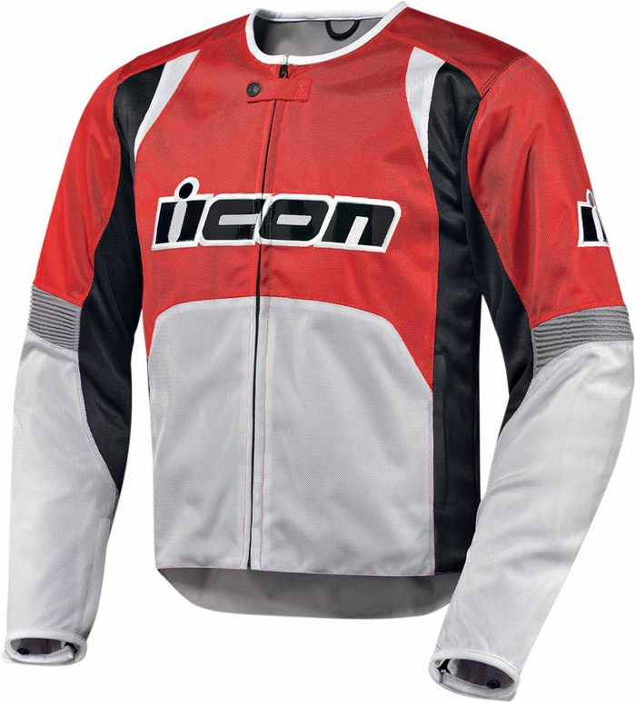 Summer Icon Overlord Textile Motorcycle Jacket Red
