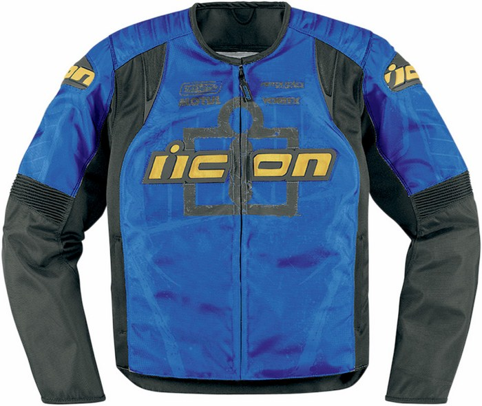 Summer motorcycle jacket Icon Overlord Type 1 Blue