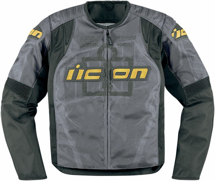 Summer motorcycle jacket Icon Overlord Type 1 Grey