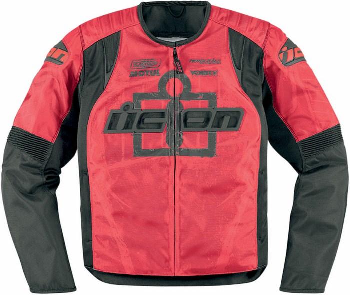 Giacca moto estiva Icon Overlord Type 1 Rosso