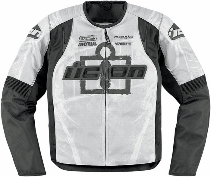 Summer motorcycle jacket Icon Overlord Type 1 White