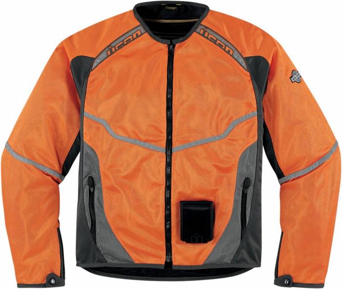 Summer Mesh Motorcycle Jacket Icon Anthem Orange fluo
