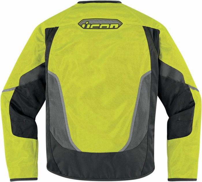 Summer Mesh Motorcycle Jacket Icon Anthem Yellow fluo