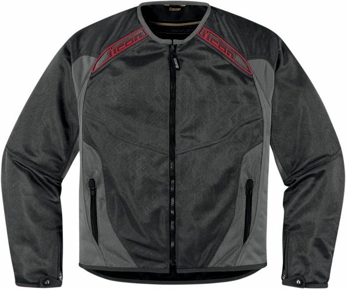 Summer motorcycle jacket Icon Grey Mesh Anthem