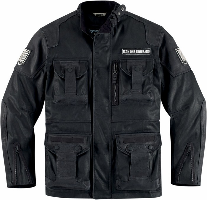 1000 Beltway Icon leather motorcycle jacket Black