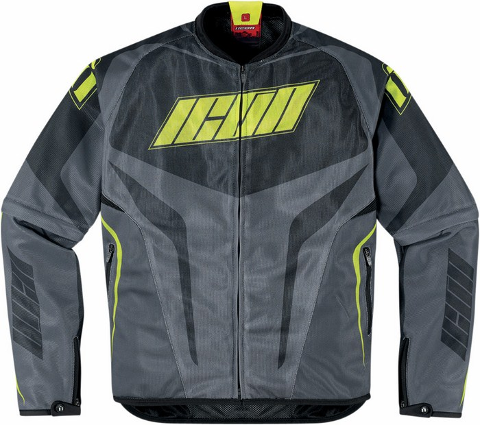Icon Hooligan summer motorcycle jacket with removable sleeves Gr