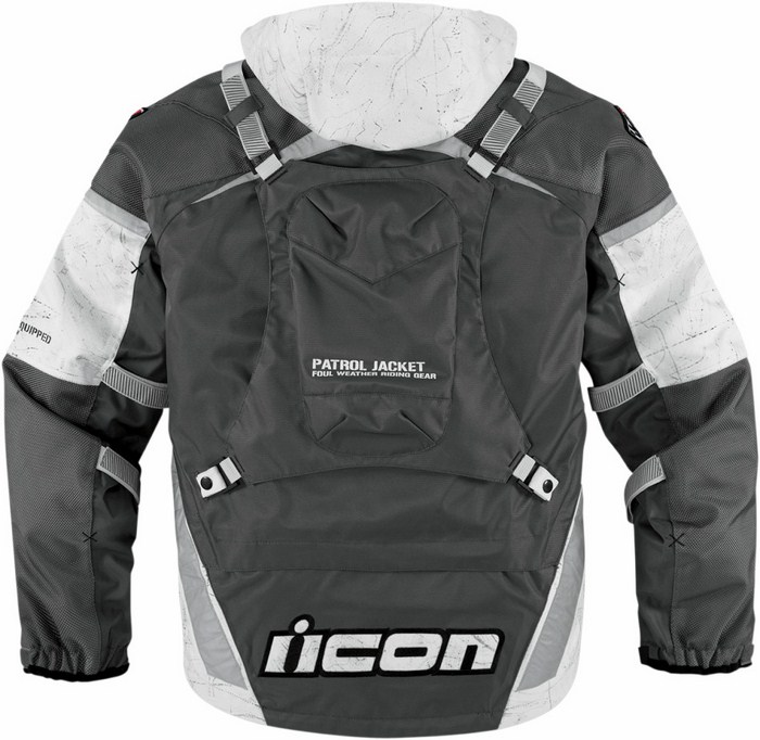 Icon Patrol Waterproof Motorcycle Jacket Waterproof  Raiden Grey