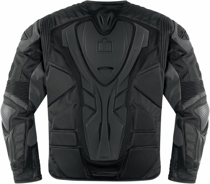 Icon Overlord Motorcycle Jacket Black Resistance