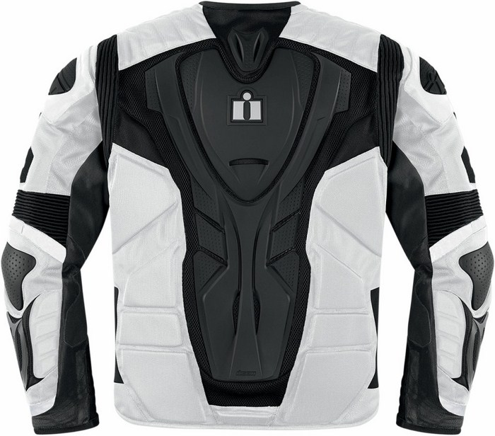 Icon Overlord Motorcycle Jacket White Resistance