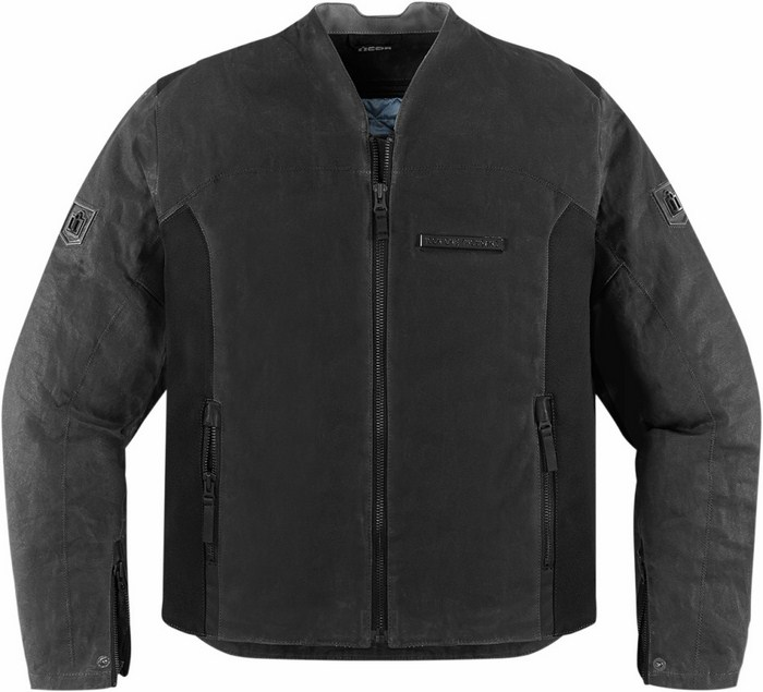1000 Icon Motorcycle Jacket Black Oildale