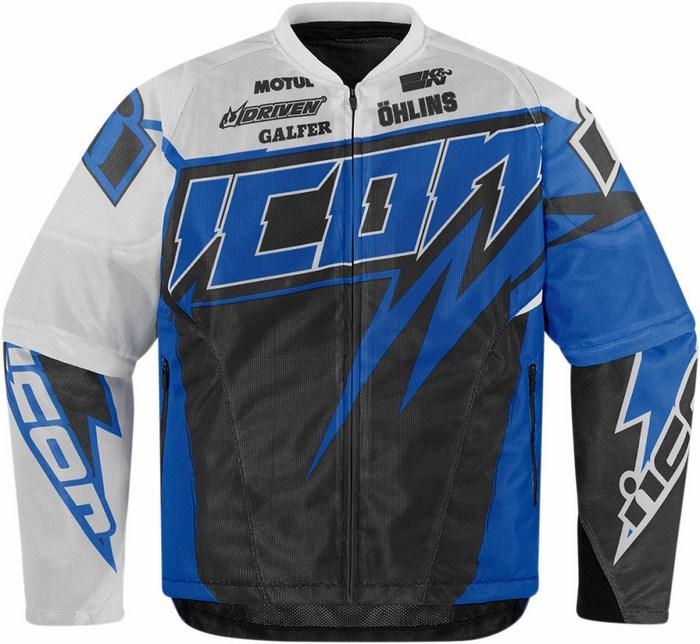 Giacca moto estiva Icon Hooligan Spaztyk Blu