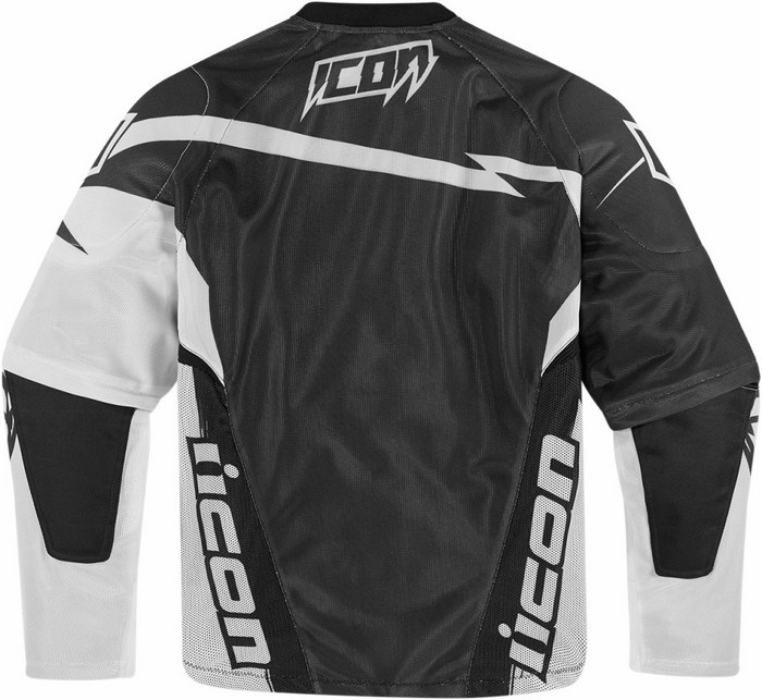Summer motorcycle jacket Icon Hooligan Spaztyk White