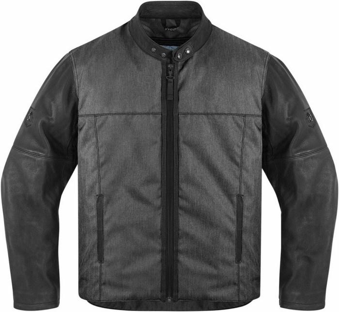 1000 Icon Motorcycle Jacket Black Vigilante