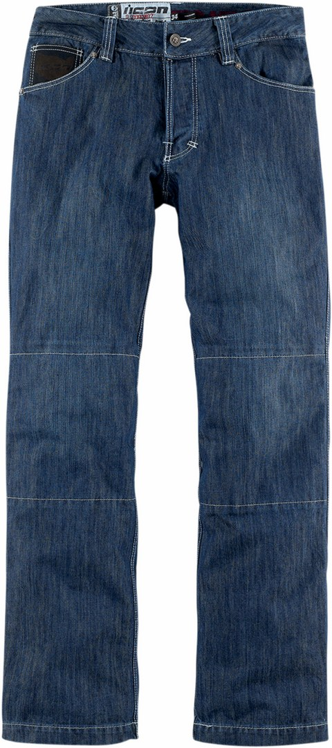Icon Strongarm 2 Enforcer Motorcycle Jeans Blue