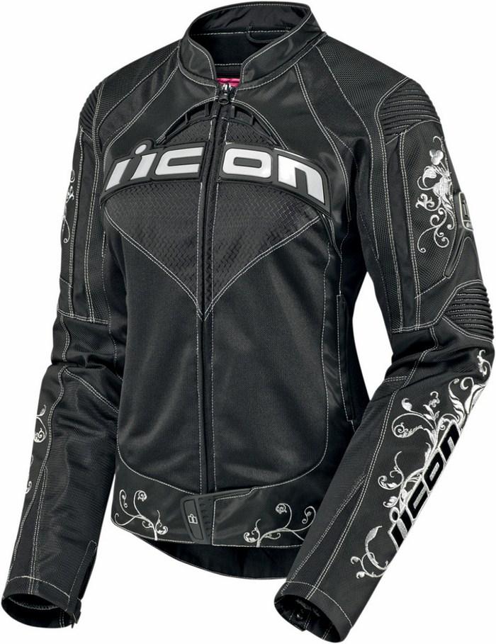 Motorcycle jacket women summer Icon Contra Speed ??Queen Black
