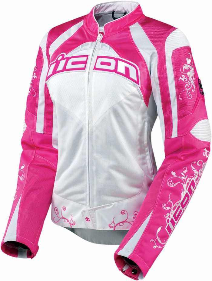 Motorcycle jacket women summer Icon Contra Speed ??Queen Rosa