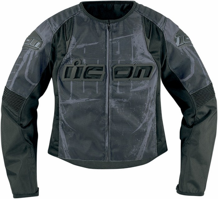 Motorcycle jacket women summer Icon Overlord Type 1 Black