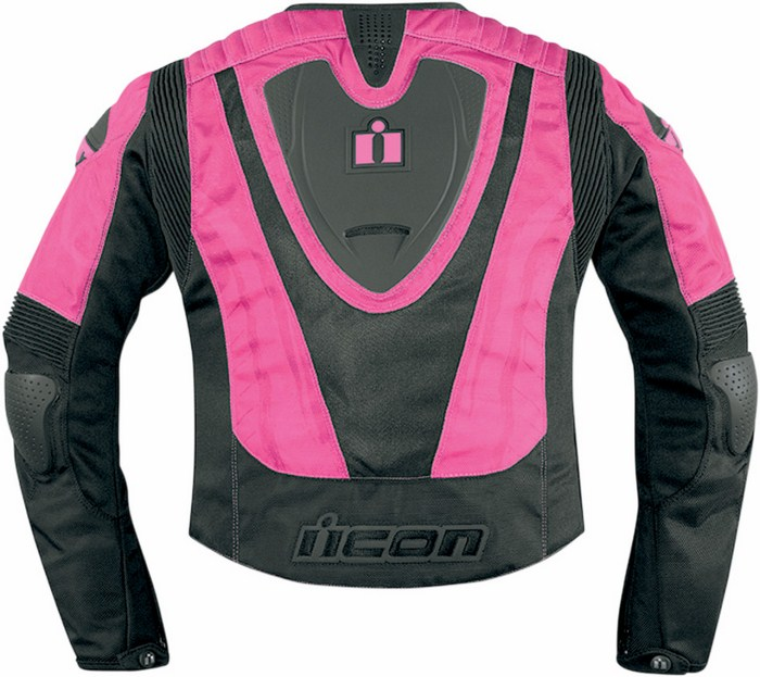 Motorcycle jacket women summer Icon Overlord Type 1 Pink