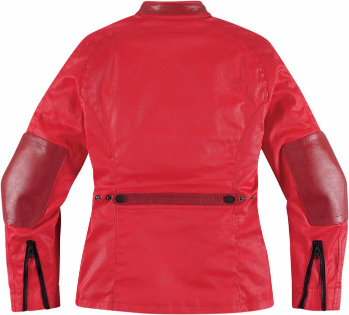 Women leather motorcycle jacket Icon 1000 Akorp Red