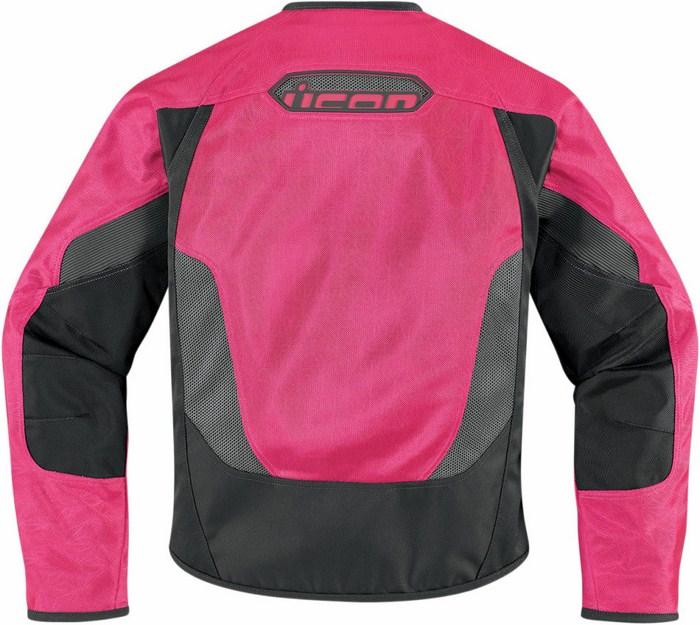 Motorcycle jacket women summer Icon Anthem Pink Mesh