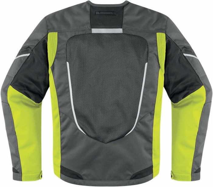 Icon Citadel summer motorcycle jacket Mesh Yellow fluo